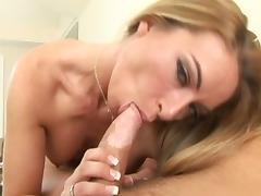 Horny pornstar in fabulous blonde, blowjob porn clip