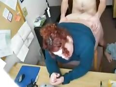Slut Fat BBW secretary fucked doggystyle in the office