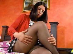 LatinChili Mature Anabella horny showoff footage