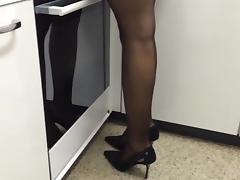 heels ind the kitchen