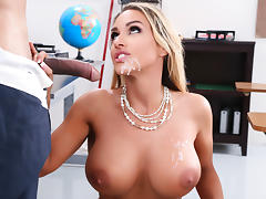 Tegan James & Derrick Ferrari in Washing Her Mouth Out With Cum - Brazzers