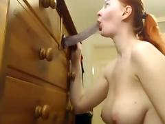 Going To Town On Her Suction Toy Dildo