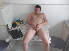 Kitchen masturbation