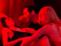 Couples have an amazing time in huge orgy at swing house