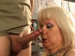 Shop, Blonde, Femdom, French, Fucking, Gangbang