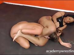Black beauty fuck and facesit in Academy Wrestling