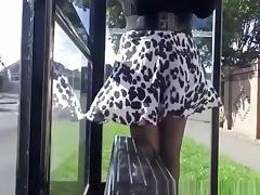 Bus, Bus, Panties, Skirt, Upskirt, Miniskirt