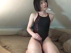Crossdresser doing an online webcam show