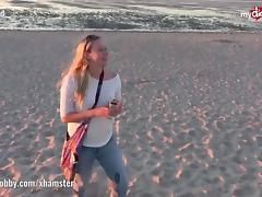 My Dirty Hobby - Hot public blowjob on the beach