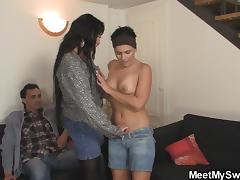 Mature couple seduce Czech teen