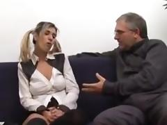 Old man seduces college girl