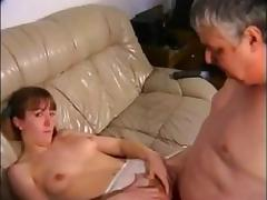 Dad, Boyfriend, Friend, Fucking, Hairy, Small Tits