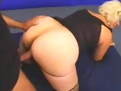 Blonde mature MILF fucks younger BBC