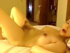 Best Homemade Shemale movie with Masturbation, Solo scenes