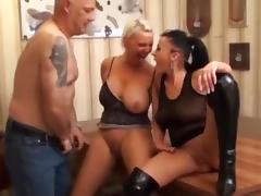 MILF, Amateur, European, German, MILF, Threesome