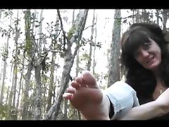 Bukkake, Bukkake, Cumshot, Footjob, Outdoor, Forest