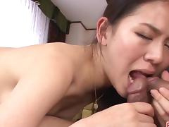 Kei Akanishi serious threesome to grant her pleasure