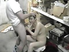 Korean ex-model sucks dicks in a bar basement part 3