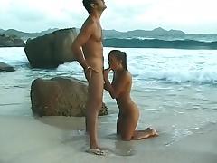 Exotic pornstar Melanie Petite in crazy facial, brunette porn clip