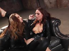 Lesbian Seduction, Asshole, Fingering, Leather, Lesbian, Long Hair