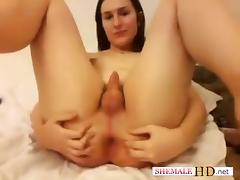 Exotic Amateur Shemale video with Teens, Small Tits scenes