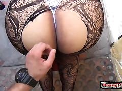 Latin pornstar pov with cumshot