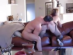 Wife Fucked Hard Against Couch