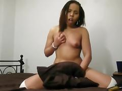 Strip Tease and Pillow Riding with Mya Love