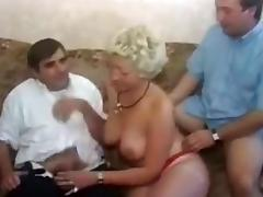 Crazy Homemade movie with Threesome, Double Penetration scenes