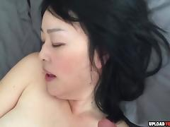 Cute asian girlfriend gets pussy fingered while she is sucking boyfriends dick