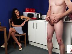 British, British, Brunette, CFNM, HD, Masturbation