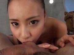 Sensual Japanese workd the hard penis in soft modes