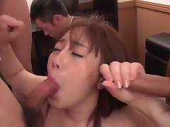 Japanese, Asian, Blowjob, Bondage, Cumshot, Gangbang