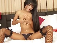 Best Homemade Shemale clip with Stockings, Dildos/Toys scenes