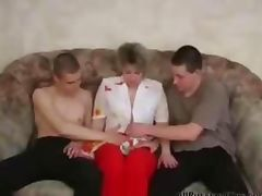 Russian Mature Fucking With Two Young On The Couch russian cumshots swallow