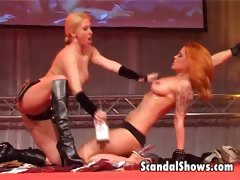 2 hot striper girls getting dirty