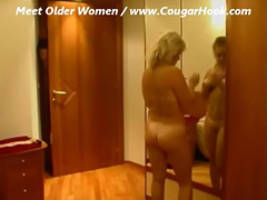 Mature Milf fucks with young boy