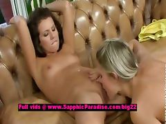 Brandy and Dominika lesbian babes licking