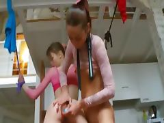 18yo belarusian chicks playing with toys