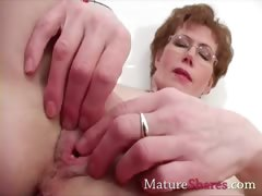 Stepmom, Aged, Cougar, Fingering, Granny, Housewife