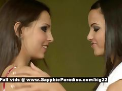 Sascha and Daphne stunning lovely lesbians licking