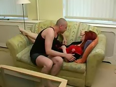 Redhead house wife cheating on husband and Enjoying creampie sex with neighbour