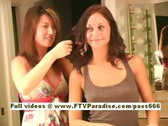 Vanesa Ingenious gorgeous redhead babe arrange her hair