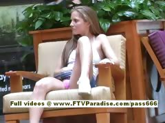 Emma lovely blonde babe goes into a shopping mall