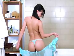Melissa Mendiny solo in bathroom