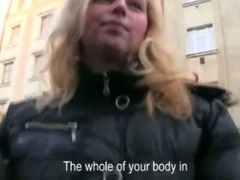 Big tits euro sweetie pulled in public and fucked inside the hotel for some cash porn video