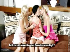 Paula and Rhianna and Aloha stunning lesbian girls fingering