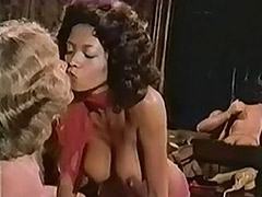 Chocolate and White Chicks Sucking Cock 1970