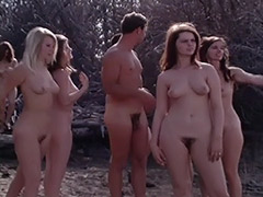 1960, Classic, Group, Nudist, Outdoor, Teen