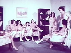 Couples Fucking and Cumming in an Apartment 1960